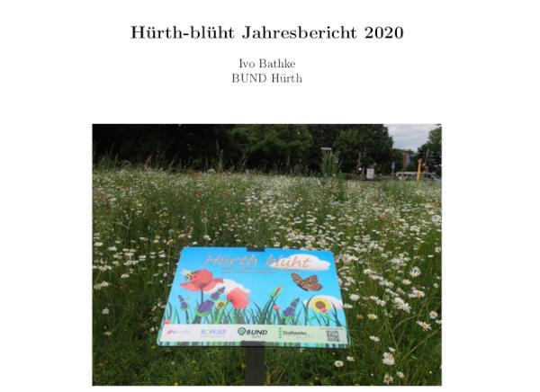 Hürth-blüht Projektbericht 2020