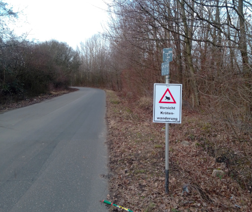 Körtenwanderung Warnschilder Kloster Burbach